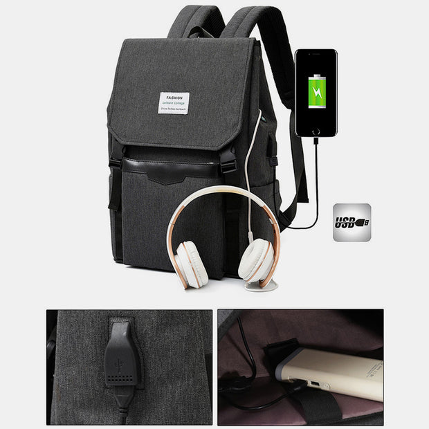 Multifunctional Water-Resistant Laptop Backpack With USB Charging Port