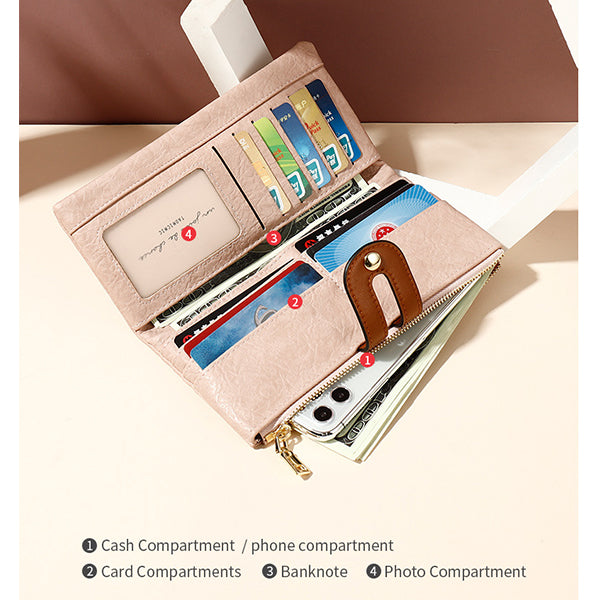 Multifunctional Fashion Long Wallet