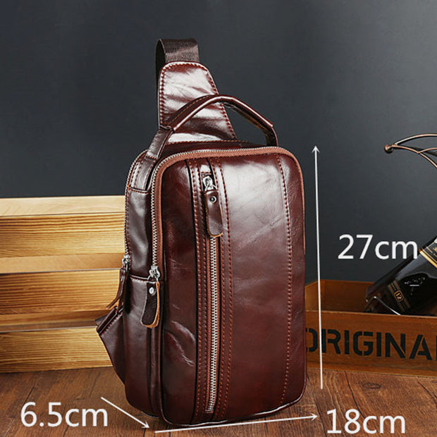 Real Leather Large Capacity Handbag Sling Bag