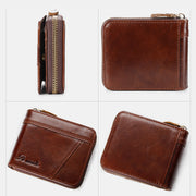 Large Capacity Retro RFID Multi-Slot Mini Wallet