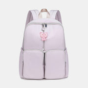 Solid Waterproof Casual School Backpack