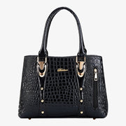Top Handle Satchel Handbags Crocodile Bag