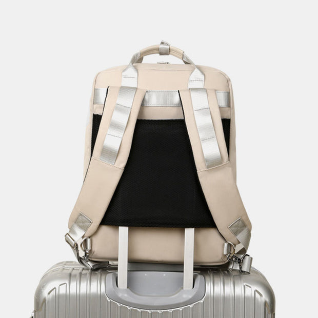 USB Charging Multifunctional Patchwork Backpack