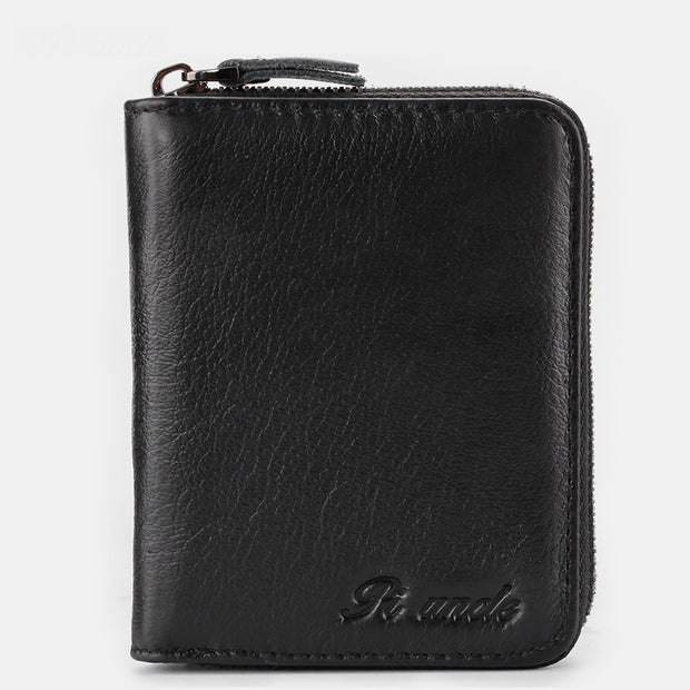 Vertical Multi-Slot Retro RFID Mini Wallet
