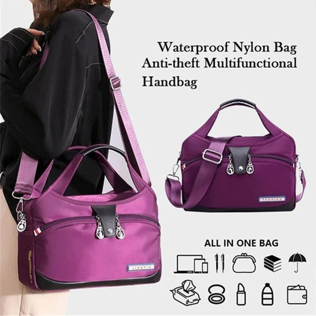 Waterproof Nylon Bag Anti-theft Multifunctional Handbag