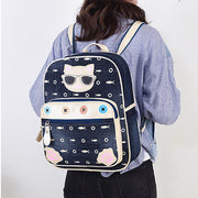 Waterproof Cute Cat Pattren Printed Backpack