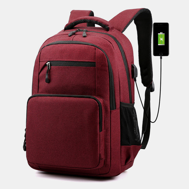 Wear-Resistant Large Capacity Laptop Backpack With USB Charging Port