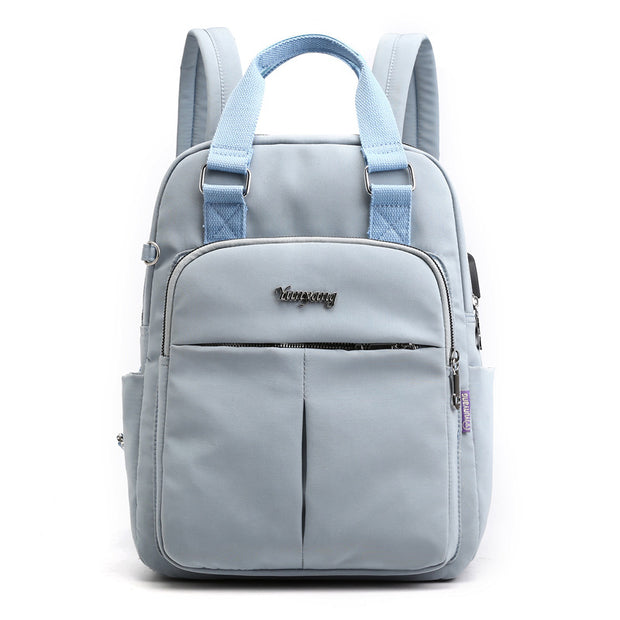 Women's Large Capacity Solid Laptop Backpack