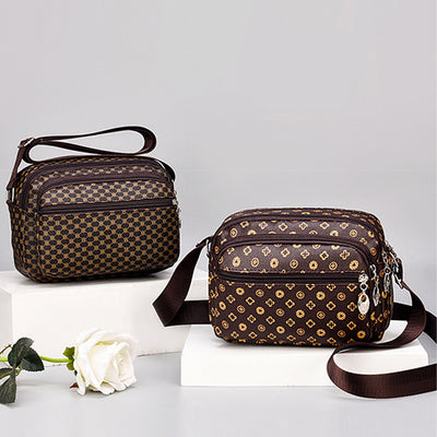 Classic Printing Multi-Pocket Crossbody Bag