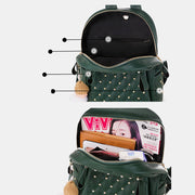 Large Capacity Studded Backpack