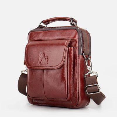 Large Capacity Genuine Leather Crossbody Bag