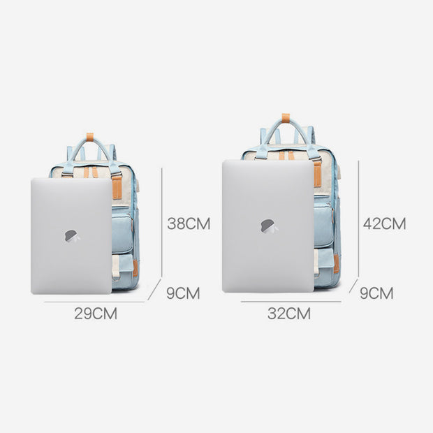 Multi-Pocket USB Charging Waterproof Lightweight Laptop Backpack