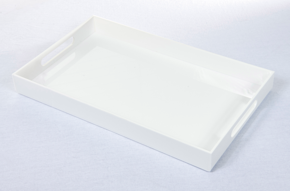 PREORDER IN TIME FOR CHRISTMAS Statement Tray - White Acrylic