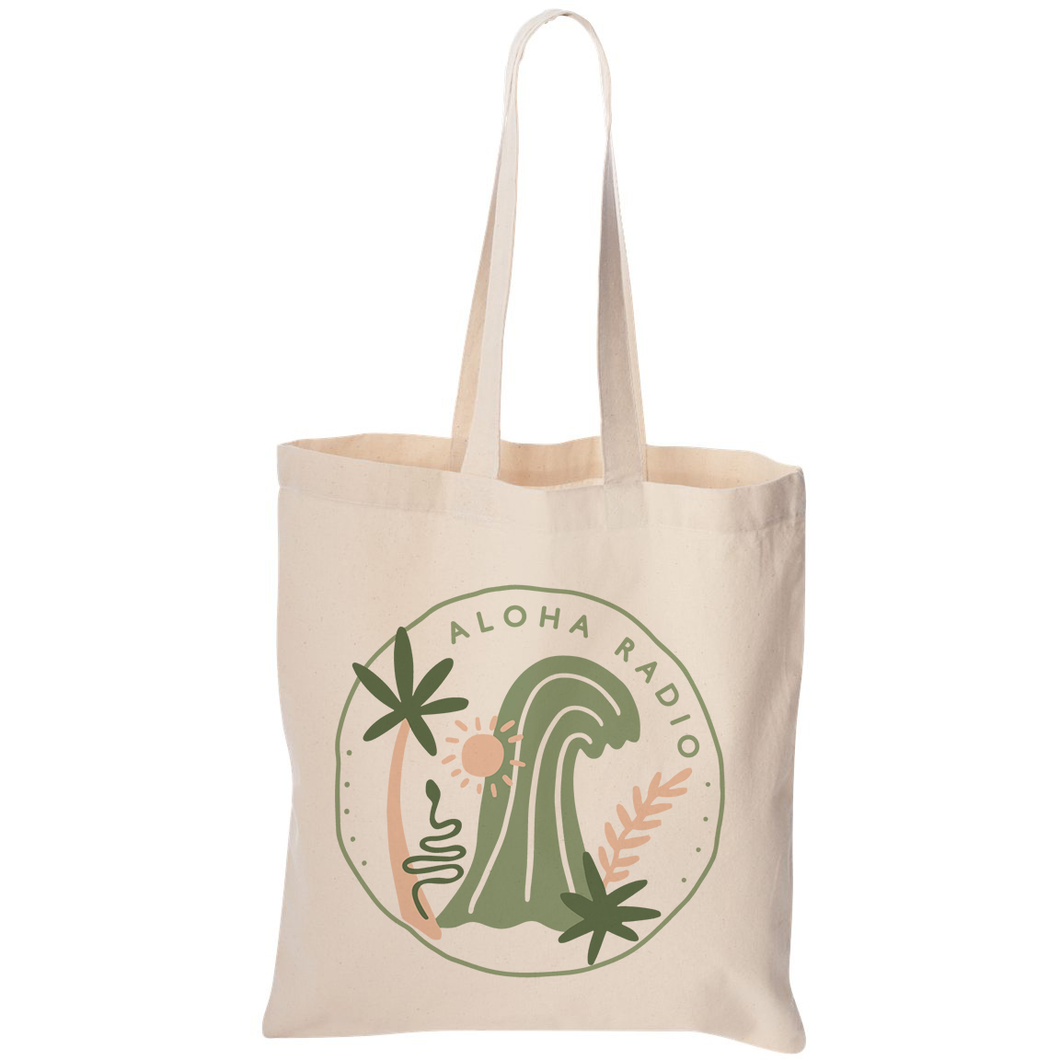 JUNGLE SURF CANVAS TOTE BAG