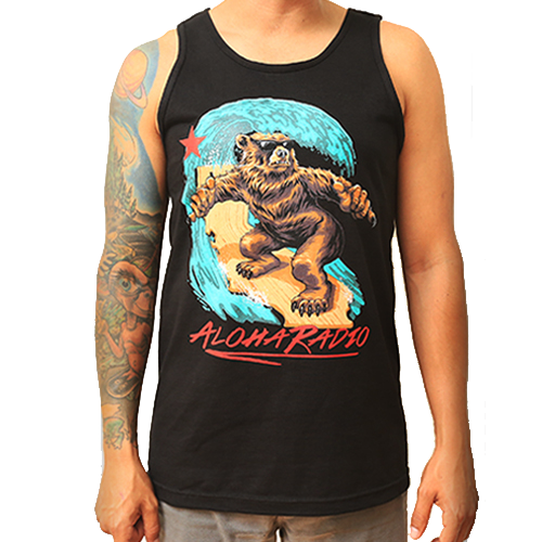 SURFING CALI BEAR TANK TOP