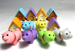 Iwako Puppy with House Erasers Set of 12