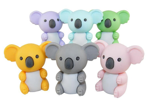 Iwako New Color Koala Erasers Set of 6