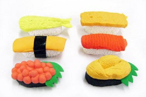 Iwako Sushi Erasers Set of 6