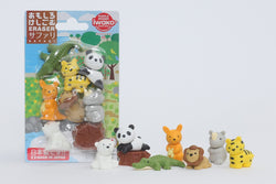 Iwako Safari Animal Erasers Set of 7