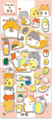 Puffy Hamster Stickers