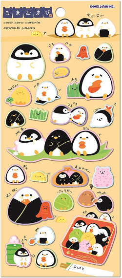 Puffy Penguin Stickers