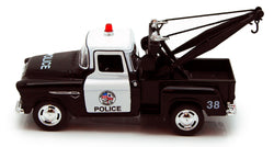1955 Chevy Stepside Police Tow Truck 1/32 Scale 5.5 Inches Long