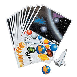 Make Your Own Solar System Sticker Sheets (1 dozen)