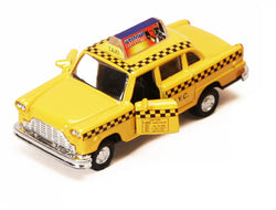 Diecast Classic NYC Taxi Cab with Pullback Action
