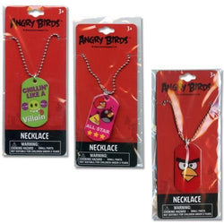 Angry Bird Set of 3 Dog Tag Necklaces