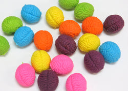 Brain Shaped Erasers Assorted Colors lot of 20