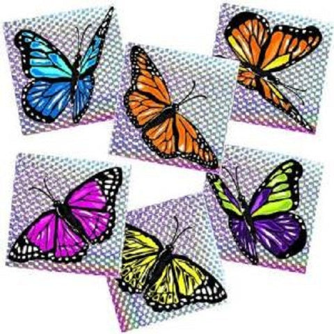 One Gross (144) Butterfly Prism Stickers