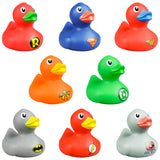 One Dozen 2 Inches DC Comics Rubber Ducky
