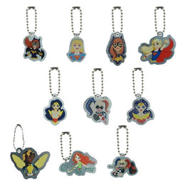DC Comic Super Hero Girls Metal Tags with Short Chains (1 Dozen)