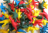 Small Vinyl Dinosaur Figures 48 Per Order (2 Inches Solid Colors)