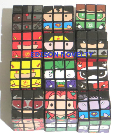 Comic Book Super Hero DC Comics Mini Puzzle Cubes One Dozen