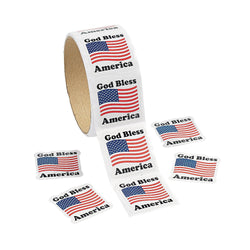 God Bless America Sticker Roll (100 Stickers)