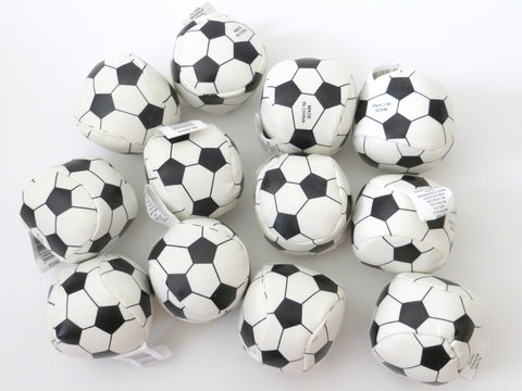 One Dozen 2 inches Soccer Soft Stuffed Balls