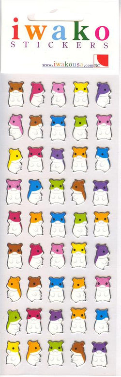 Iwako Hamster Stickers