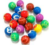 20 Monkey Face Super Bouncy Balls Assorted Colors 27mm