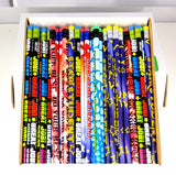"One Gross 144 Motivational Pencil Assortment 7.5"" Long"