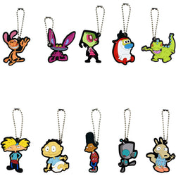 1990's Nickelodeon Soft Touch Keychain Charms Set of 10