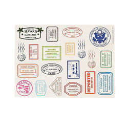 Passport Stamp Sticker Sheets (20 stickers per sheet 12 Sheet or 240 stickers)