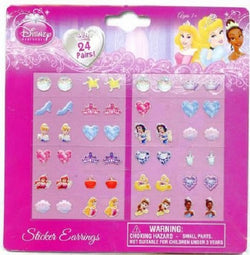 Disney Princess Sticker Earrings 24 Pairs