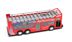 Red Diecast New York City Sightseeing Bus with Pullback Action
