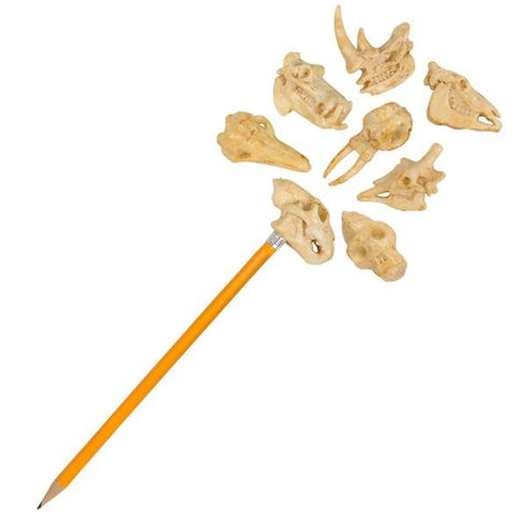 "One Dozen 2"" Animal Fossil Pencil Toppers (12)"
