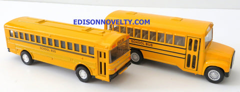 Diecast School Bus Set with Opening Doors and Pullback Action