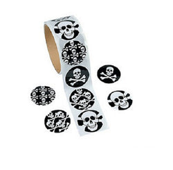 Skull Sticker Roll (100 Stickers)