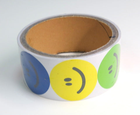 Smile Face Sticker Roll (100 Stickers)
