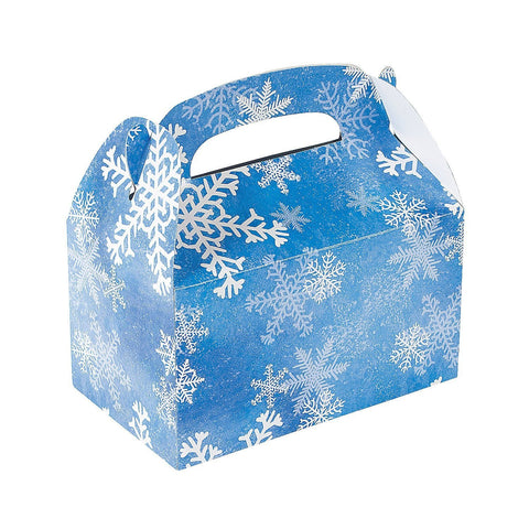 Snowflake Treat of Favors Boxes (One Dozen)