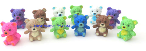One Dozen 1.25 Inches Squishy Bear Figures in Assorted Colors